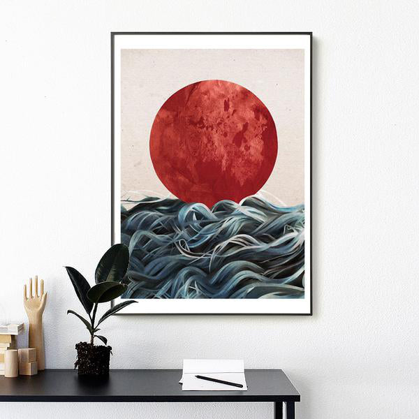 Abstract Japanese Sunrise
