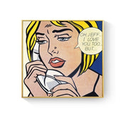 3 Pieces Comic Girl's Love Canvas