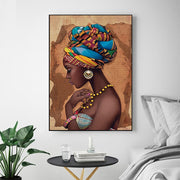 African Girl Wall Art