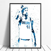 Dirk Nowitzki Watercolor