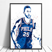 Ben Simmons Watercolor