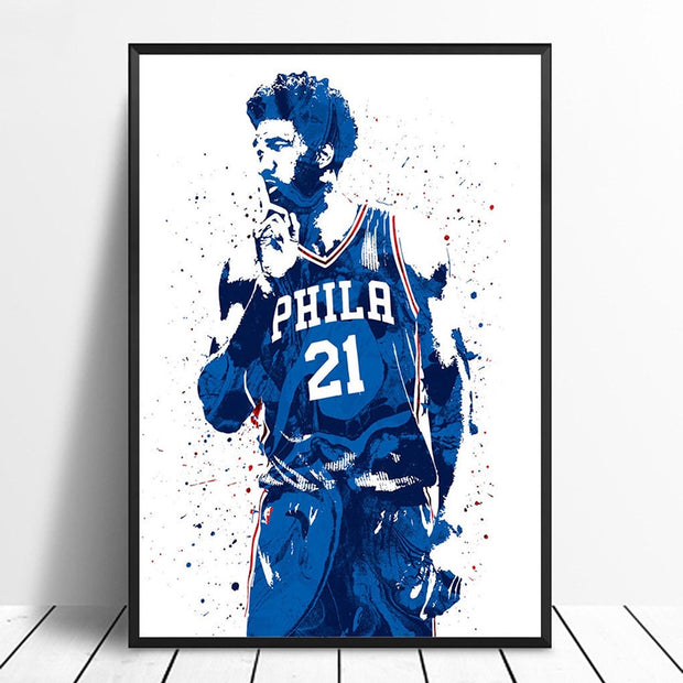 Joel Embiid Basketball Star Wall Art