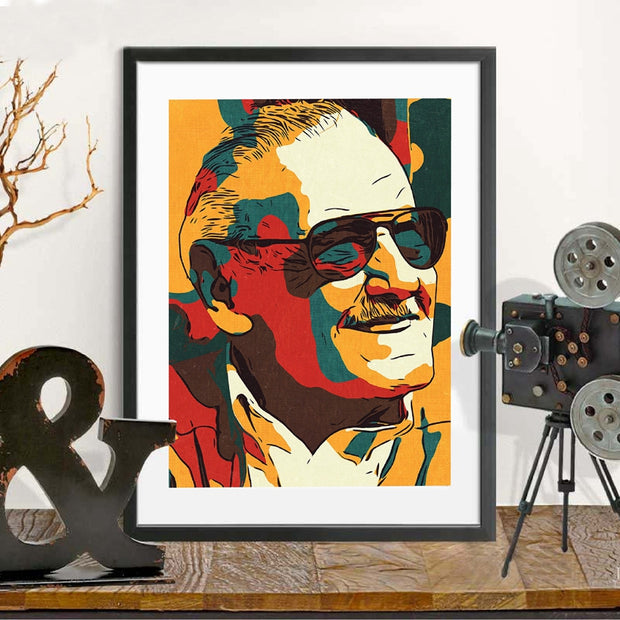 Stan Lee American Comic Hero Godfather Wall Art