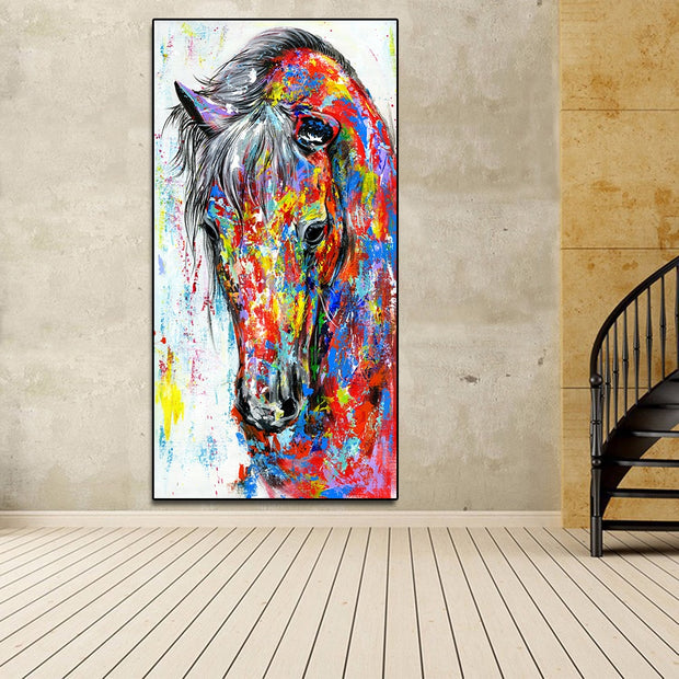 Colorful Horse Abstract