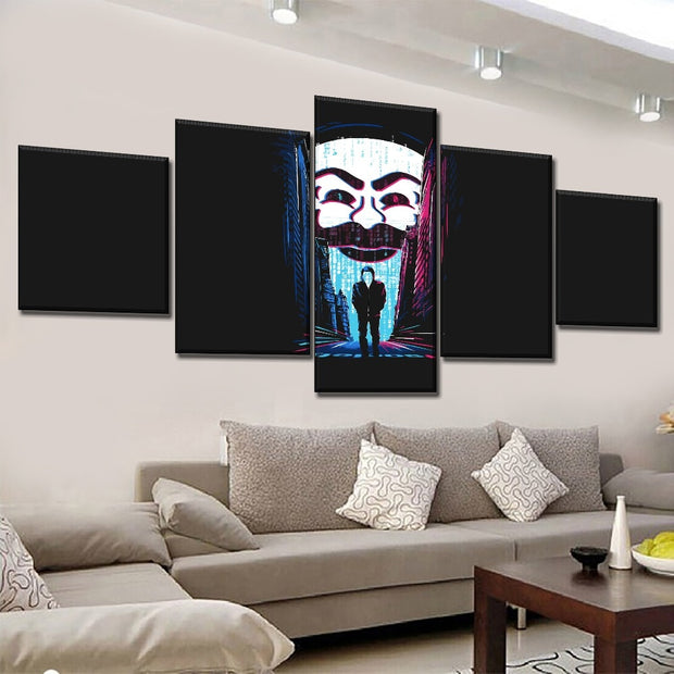 5 Panels Hacking Mr. Robot Wall Art