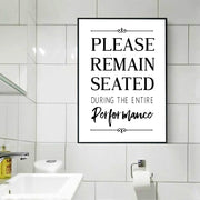Please Remain Seated Typography