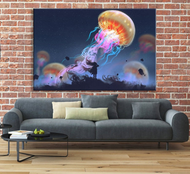 Surreal Giant Jellyfish