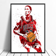 Scottie Pippen Basketball Star Wall Art