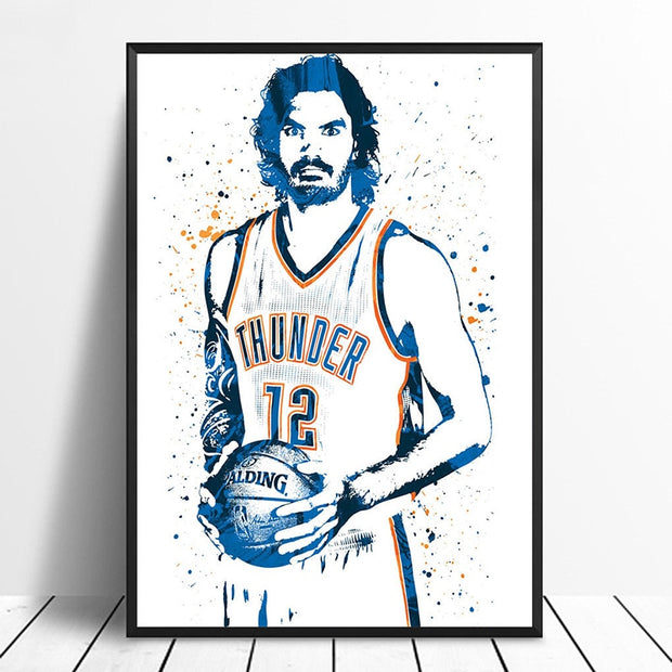 Steven Adams Basketball Star Wall Art