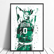 Jayson Tatum Basketball Star Wall Art