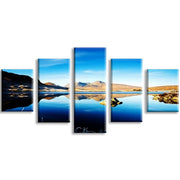 5 Pieces/set Mountain Sky Lake Picture Canvas