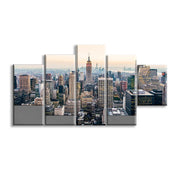 5 Panels New York City Skyscrapers Wall Art