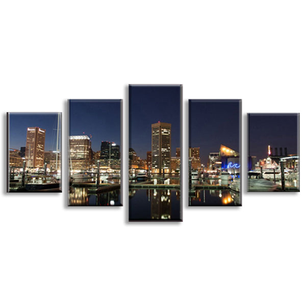 New York City Manhattan Night Skyline CityScape Wall Art