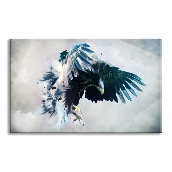 Watercolor Brid Eagle Landscape Wall Art