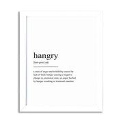 Hangry Nordic Black and White Posters