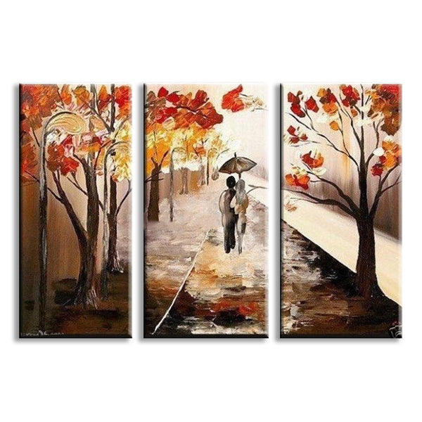 Tree Lined Trail Painting Wall Art