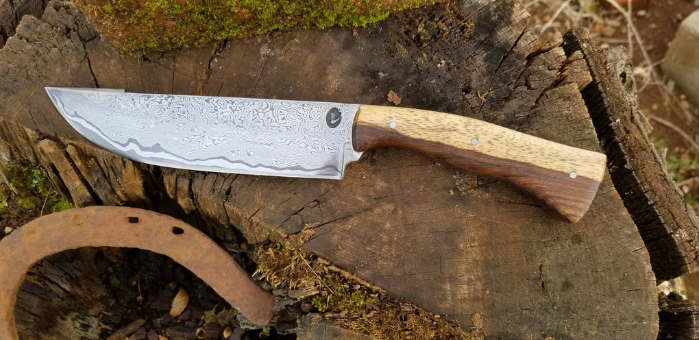Damascus Camp/Bushcraft Knife