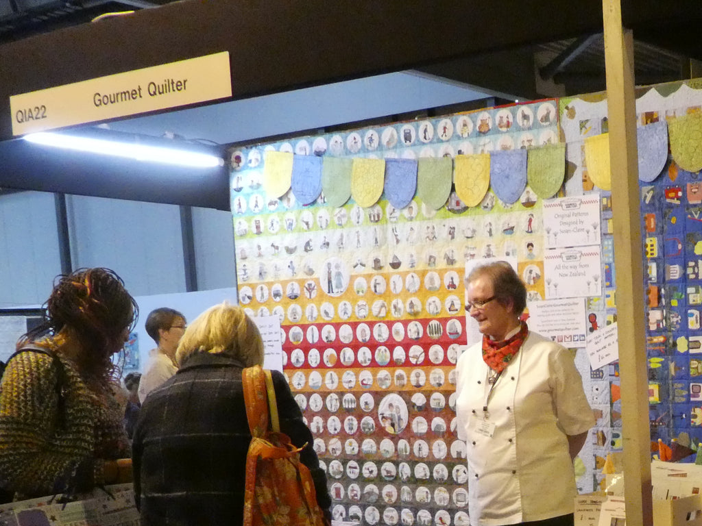 Susan stand on Festival of Quilts in UK 2017