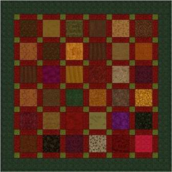 "Sashed Squares - 5"" Charm Square Pattern"