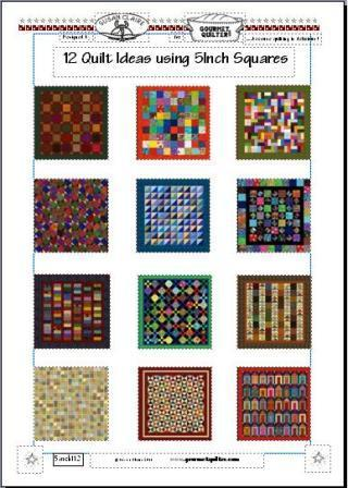 "12 Quilt Ideas using 5"" Charm Squares"