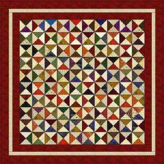 "Quarter Squares - 5"" Charm Quilt Patterns"