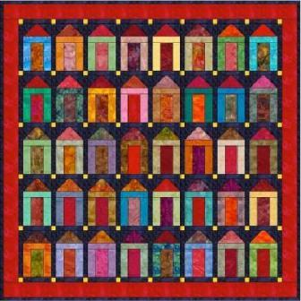 "Houses - 5"" Charm Quilt Pattern"