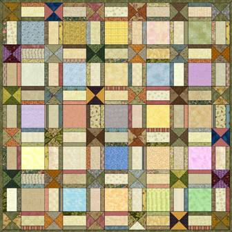 "Criss Cross - 5"" Charm Quilt Pattern"