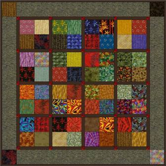 "Four Patch - 5"" Charm Quilt Pattern"