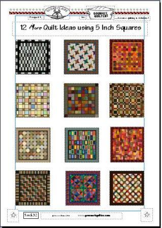 "12 More Quilt Ideas Using 5"" Charm Squares"