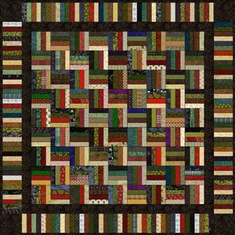 "Stripes - 5"" Charm Quilt Pattern"