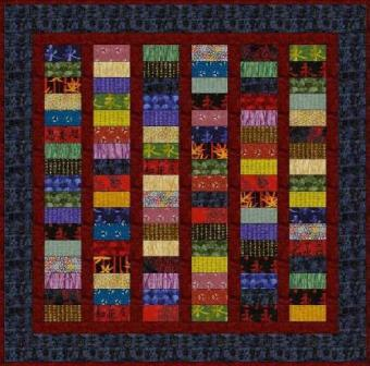 "Sashed Stripes - 5"" Charm Quilt Pattern"
