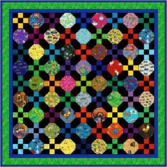 "Tumbling Patches - 5"" Charm Quilt Pattern"