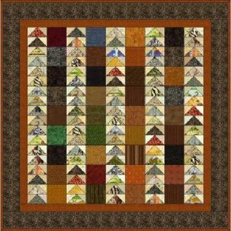 "Flying Geese - 5"" Charm Quilt Pattern"