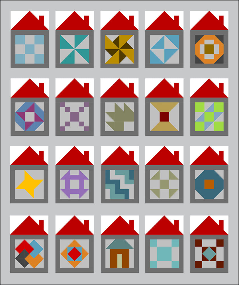 House Sampler Blocks - 2020 Tasty Treats - February