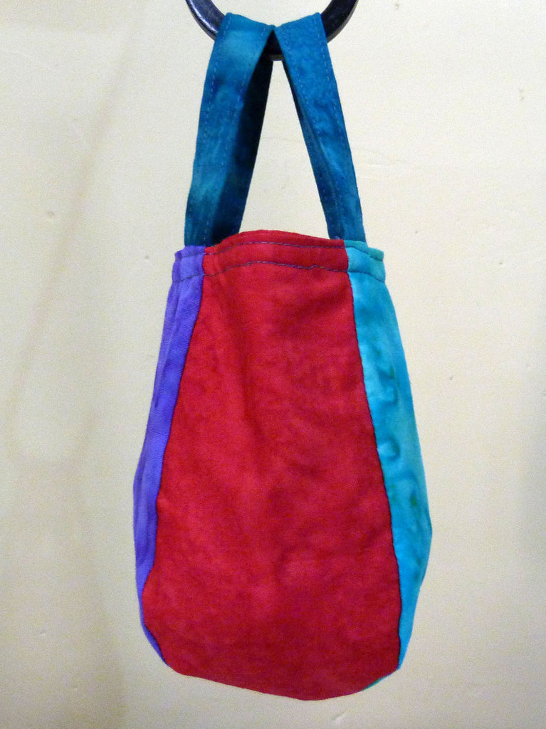 "Small Bag with Handles from 5  x  6"" squares"
