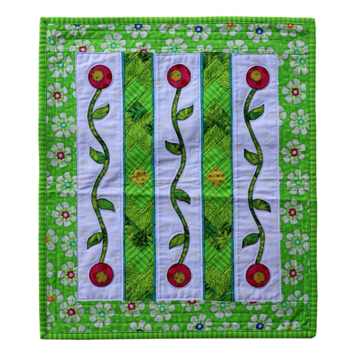 Mini Braids & Flowers - Manageable Mini Quilt Pattern