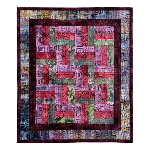 Mini Rail Fence  - Quilt Kit - batik fabrics