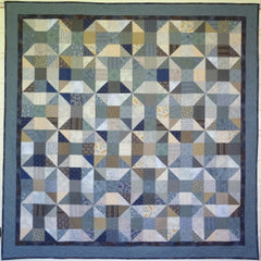 Big Block Big Quilt - Blue Reels using 5 Inch Squares
