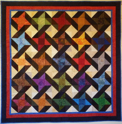 Big Block Big Quilt - Entwined using 5 Inch Squares