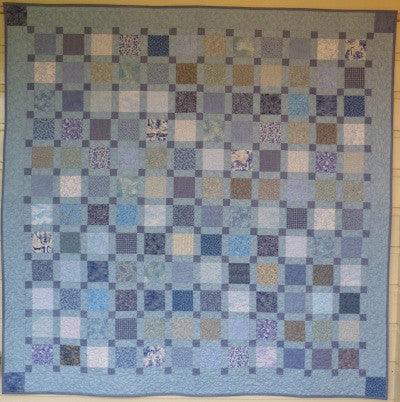 Big Block Big Quilt - Feeling Blue using 5 Inch Squares