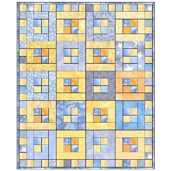 Four in a Square Quilt Pattern
