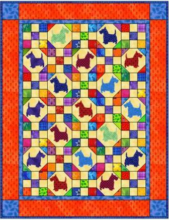 Dogs Quilt Pattern