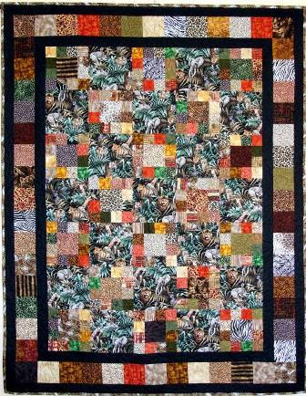 Jungle Squares Quilt Pattern