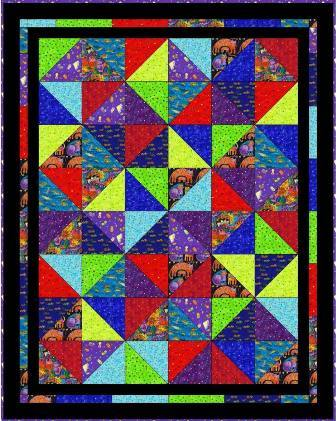 Bright Fun Quilt Pattern
