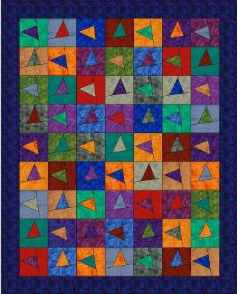 Those Wonky Triangles Quilt Pattern