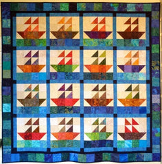 Big Block Big Quilt - Sailing using 5 Inch Squares