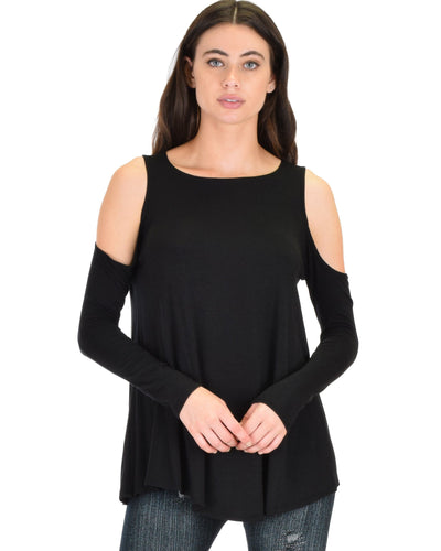 In Good Company Cold Shoulder Long Sleeve Top