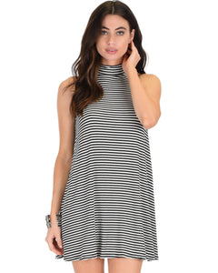 Olivia Tank Striped Shift Dress