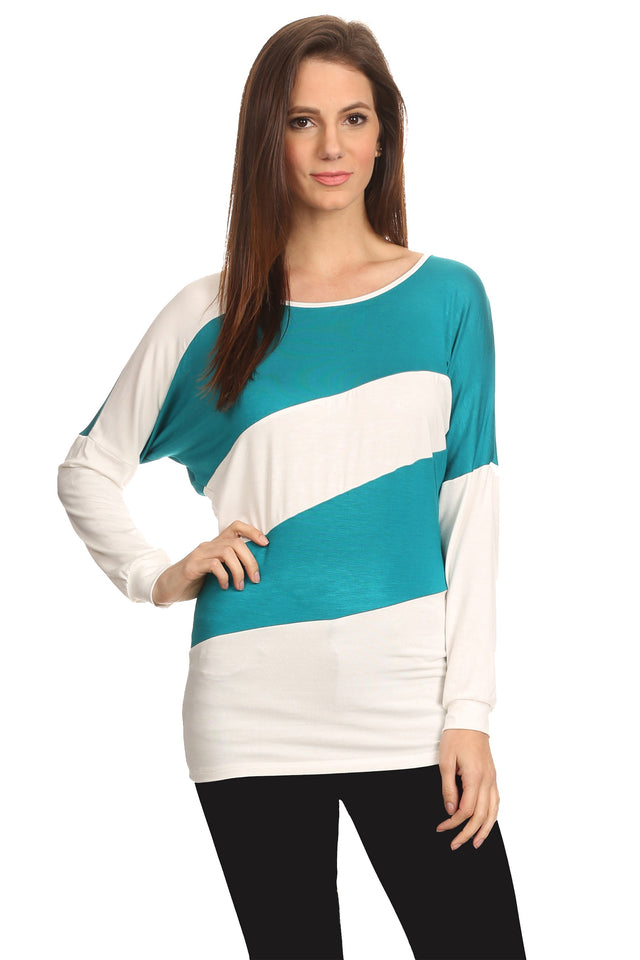 Women's Striped Long Sleeve Shirt Summer Top