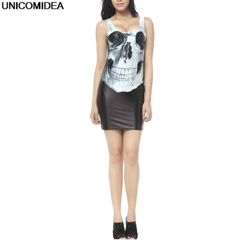 Casual Skull Mini Club Dress
